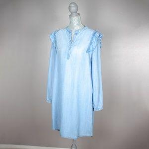 NWT Cloth & Stone Ruffled Shirtdress   M